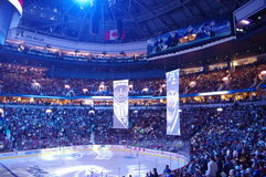 Towel Power in the NHL. Towel Power during Vancouver Canucks game Royalty Free Stock Photography