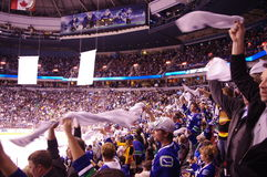 Towel Power in the NHL Royalty Free Stock Image
