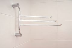 Towel rail Stock Photo