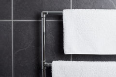 Towel rail in bathroom Royalty Free Stock Photography