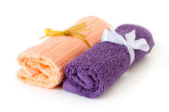 Towel roll. On a white background Royalty Free Stock Photos