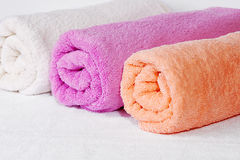 Towel rolls Stock Image