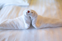 Towel sea lion origami Royalty Free Stock Images