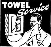 Towel Service Stock Photo
