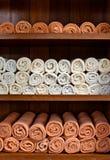 Towel shelf Stock Images