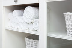 Towel on a shelf Royalty Free Stock Images