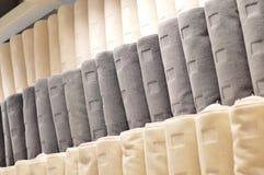 Towel on shelf Stock Photos