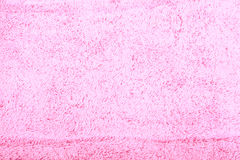Towel and soap. Pink terry towel and pink soap Stock Photo