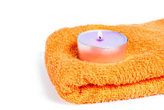 Towel and soap Stock Image