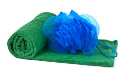 Towel and sponge Royalty Free Stock Photo