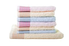 Towel stack stock images