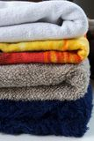 Towel stack stock photography