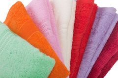Towel stack stock image