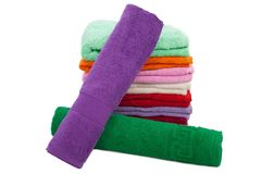 Towel stack Royalty Free Stock Image
