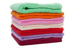 Towel stack royalty free stock images