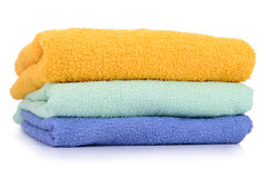 Towel stack Isolated Stock Images