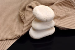 Towel and stones Royalty Free Stock Photography