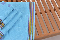 Towel on sunbed Royalty Free Stock Images
