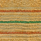 Towel texture with colorful line. Use for texture and background Stock Photo