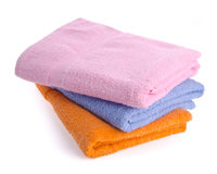 Towel, towel on background. Stock Photos