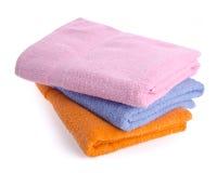 Towel, towel on background. Stock Photos