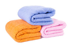 Towel. towel on a background Stock Photos