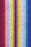 Towel with vertical stripes Stock Photo