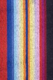 Towel with vertical stripes Stock Images