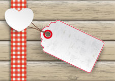 Towel Wood Hearts Big Price Sticker Stock Images