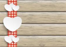 Towel Wood Hearts Royalty Free Stock Image