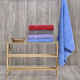 Towel on wood Royalty Free Stock Photography