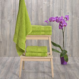Towel on wood Royalty Free Stock Photo