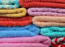 Towels. Macro photo of towels abstract background Stock Photos