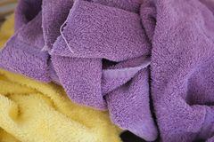Towels. Casually tossed in a pile Stock Photos