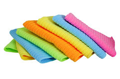 Towels. A stack of clean kitchen towels Stock Image