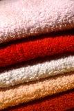 Towels. Bathroom color Towels, still life Stock Images
