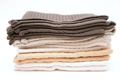 Towels. � Dish stock images