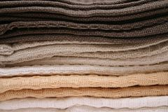 Towels. � Dish Royalty Free Stock Photo