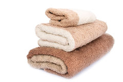 Towels. Isolated on white background Stock Images