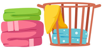Towels stock illustration
