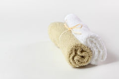 Towels associated with twine Royalty Free Stock Photo