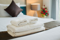 Towels are available at the hotel. Royalty Free Stock Photos