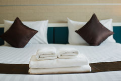 Towels are available at the hotel. Royalty Free Stock Images