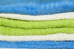 Towels background. Abstract background with colorful towels stock photos