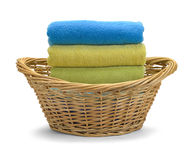 Towels and Basket Royalty Free Stock Image