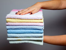 Towels batch Royalty Free Stock Images