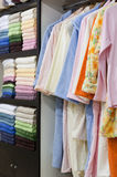 Towels and bath accessories shop Stock Photo