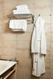 Towels and bathrobes Stock Photo
