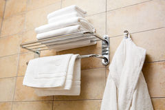 Towels and bathrobes Royalty Free Stock Photography
