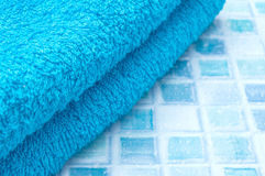 Towels in Bathroom Stock Photo